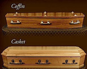 coffin and casket